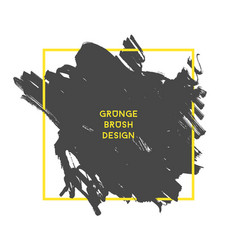 grunge brush banner vector image