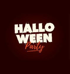 halloween party text logo vector image
