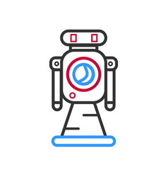 Hand drawn robot isolated on white vector