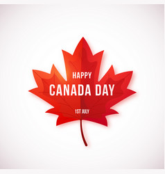 happy canada day design isolated vector image