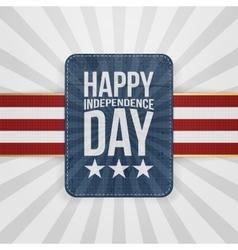 Happy Independence Day patriotic Badge vector image