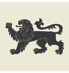 Heraldic lion35 vector image