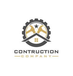 Home improvement logo design vector