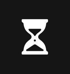 hourglass icon simple sandglass symbol vector image