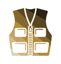 hunter vest icon vector image