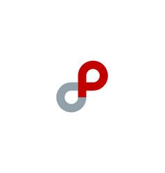 Infinity letter p logo icon design vector