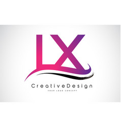Lx l x letter logo design creative icon modern vector