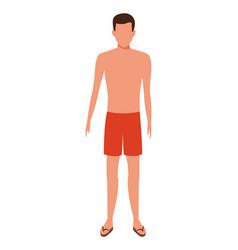 Man wearing swimwear vector