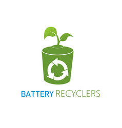 Modern nature technology battery recyclers eco vector