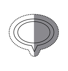 monochrome sticker of oval speech with tail vector image