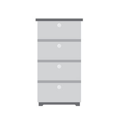 Office cabinet icon documents office box vector