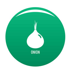 onion icon green vector image
