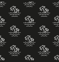 palm trees and sea pattern seamless vector image