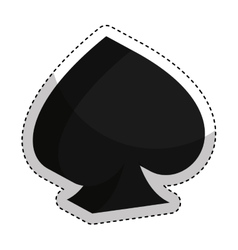 Poker ace isolated icon vector