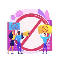 Public backlash abstract concept vector