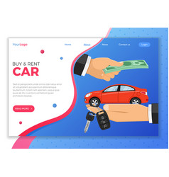 purchase or rental car vector image