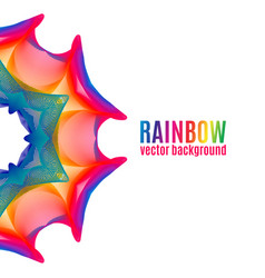 Rainbow star background vector