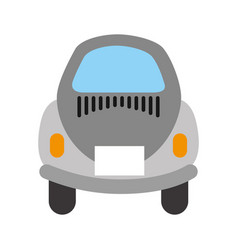 Rear of car icon vector