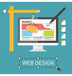Responsive web design application development and vector image