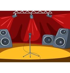 RockRoll Stage Cartoon vector image