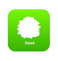 Salad icon green vector