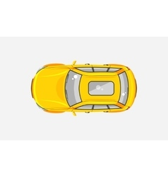 Sedan car top view vector image