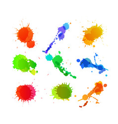 Set of paint blots vector