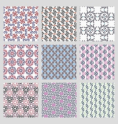 Simple Seamless Patterns vector image