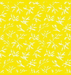 Simplicity herbal background seamless pattern vector
