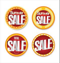 summer sale retro badge collection vector image