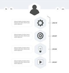 Timeline template black and white style vector