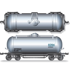 Train oil tanks vector