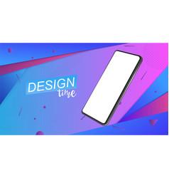 trendy minimalistic 3d isometric smartphone vector image