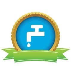 Water tap certificate icon vector