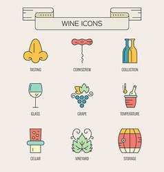 Wine Elements vector image