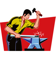 Wiry man at work vector