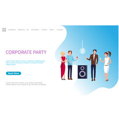 work people corporate party in disco club vector image