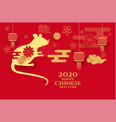 Year rat background for chinese new year vector