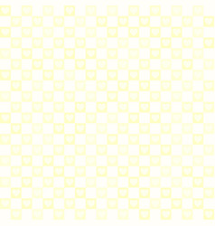 Yellow checkered pattern with hearts seamless vector