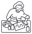 artist woman line icon sign vector image
