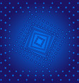 abstract gradient squares on blue background vector image