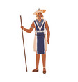 african tribal man holding wand or stick in hand vector image vector image