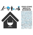Alcohol Bar Icon with 1000 Medical Business vector image