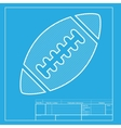 American simple football ball White section of vector image vector image