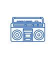 audio cassete player line icon concept audio vector image vector image
