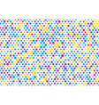 background composition of colorful dots vector image vector image