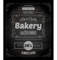 Bakery Poster on Chalk Board vector image vector image