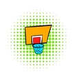 Basketball goal icon comics style vector image vector image