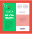 beach business company poster template with place vector image vector image