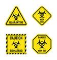 biological hazard warning signs biohazard danger vector image vector image
